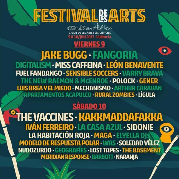 Cartel por días para el Festival de les Arts 2017