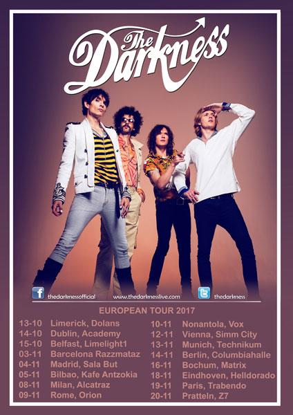 The Darkness european tour 2017