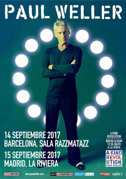 Paul Weller actuará en Barcelona y Madrid en septiembre de 2017