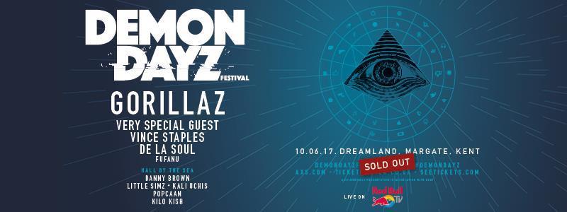 Live stream Demon Dayz, Gorillaz festival