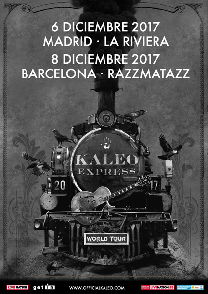 Kaleo announce December 2017 Spain shows
