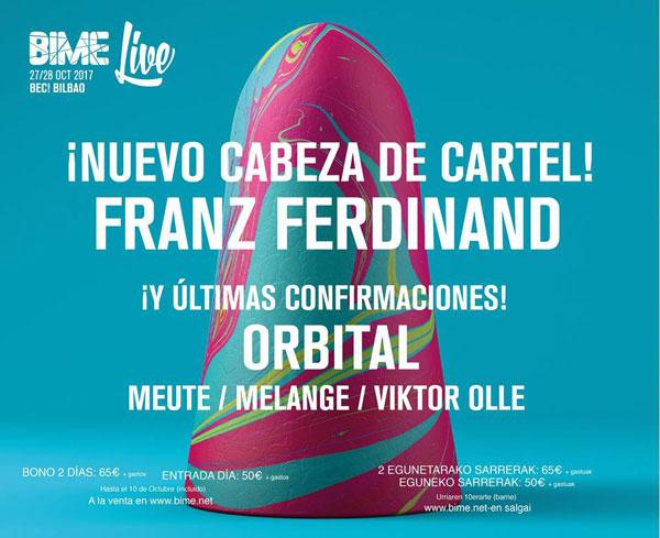 Franz Ferdinand close Basque Festival Bime Live 2017 lineup