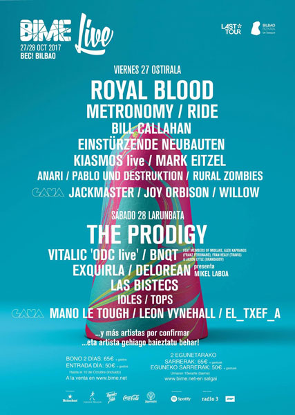 Royal Blood, cabeza de cartel del Bime Live 2017