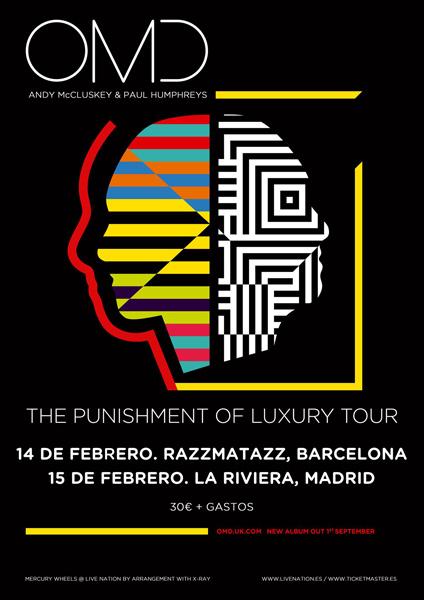 OMD en Barcelona y Madrid en febrero de 2018
