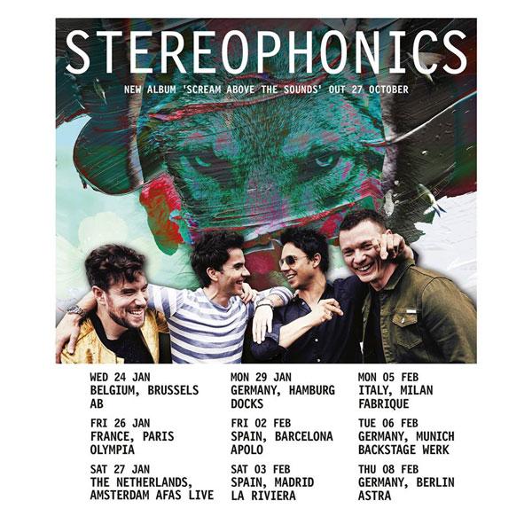 Stereophonics confirms 2018 European Tour