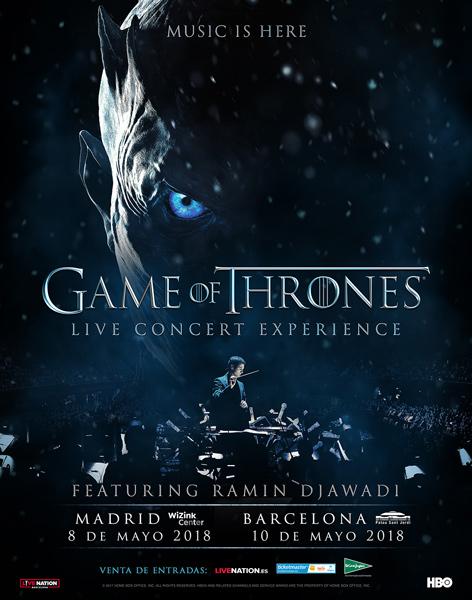 Game of Thrones live concert España 2018