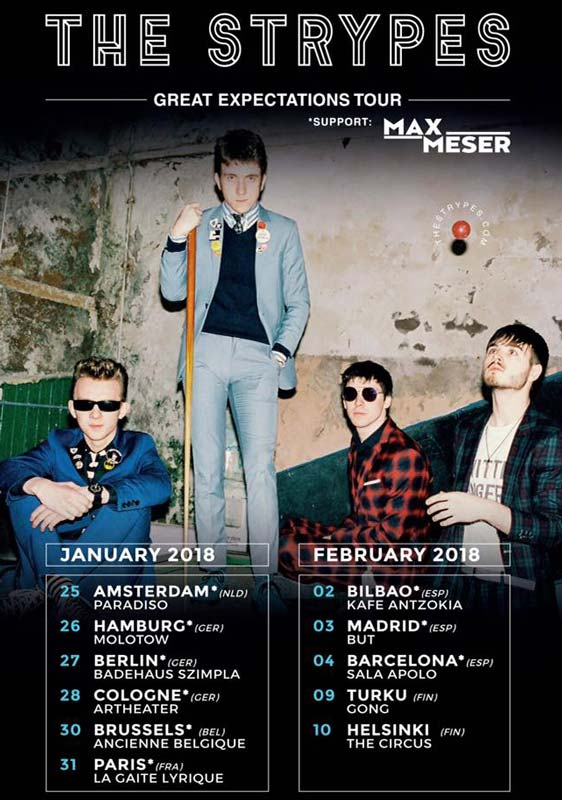 The Strypes announce european tour January/February 2018