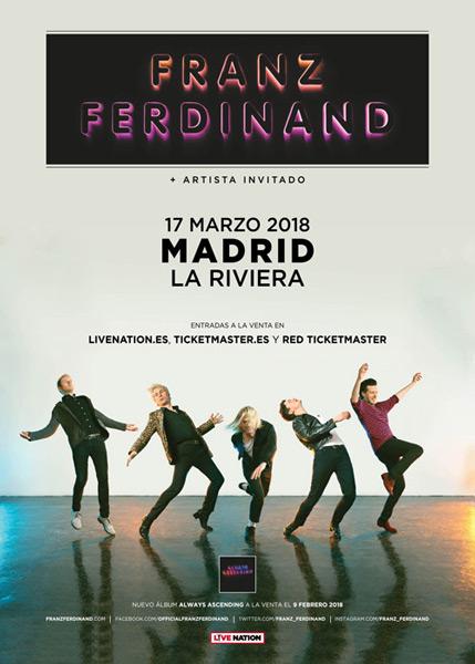 Franz Ferdinand anuncian nuevo disco y concierto en Madrid