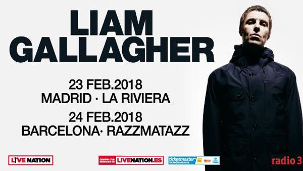 Liam Gallagher actuará en Madrid y Barcelona en 2018