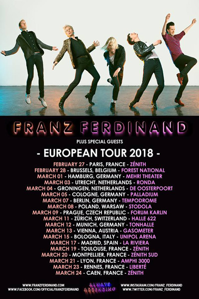 Franz Ferdinand announce new album and European Tour 2018