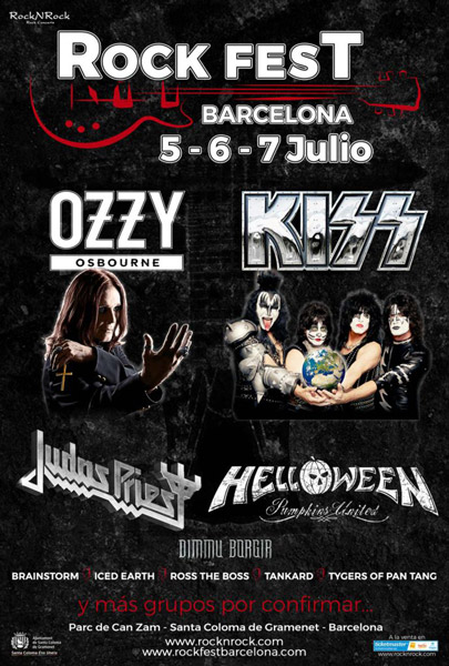 Ozzy Osbourne y Kiss, grandes cabezas de cartel del Rock Fest Barcelona 2018
