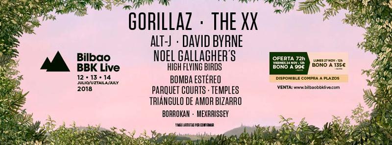 Alt-J y Noel Gallagher, nuevos nombres del Bilbao BBK Live 2018