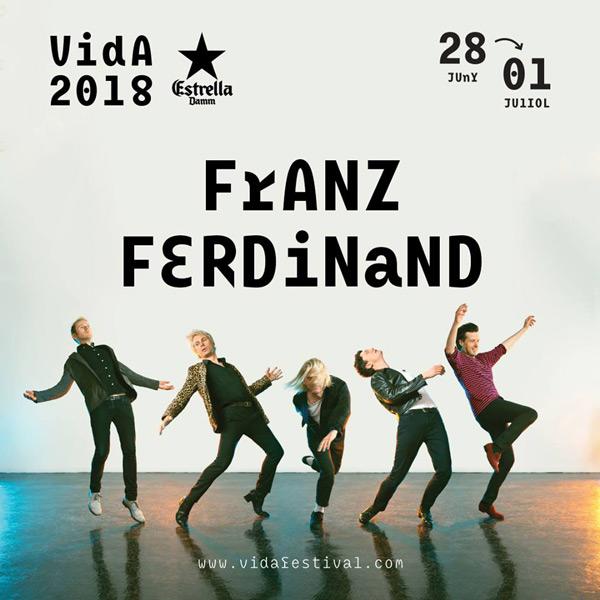 Franz Ferdinand, primer cabeza de cartel del Vida 2018