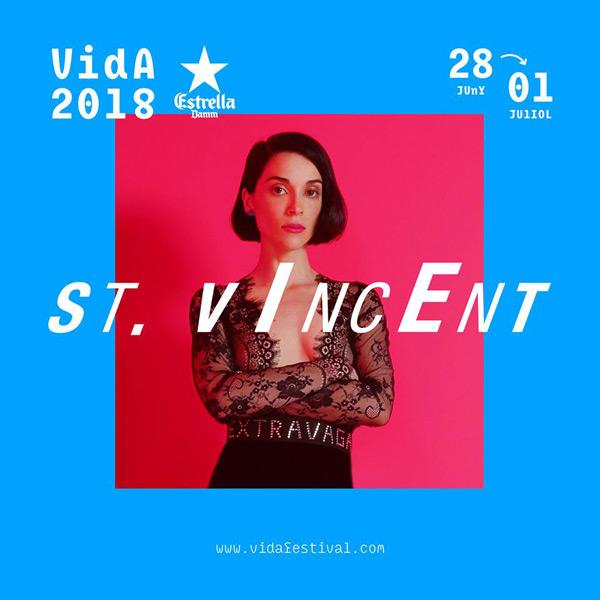St. Vincent, segundo gran nombre para el Vida 2018