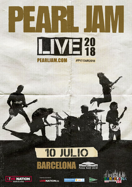 Pearl Jam confirman conciertos en Barcelona y Madrid