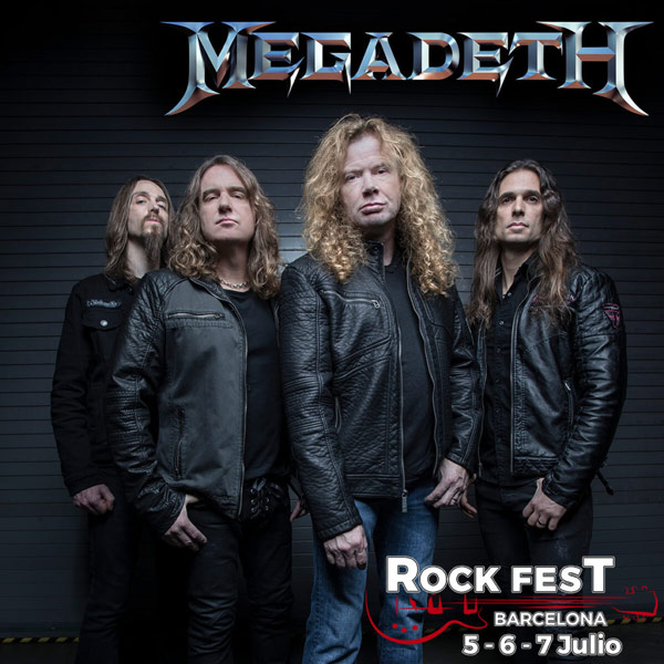 Megadeth, nueva confirmación del Rock Fest Barcelona 2018