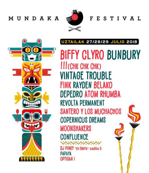 Biffy Clyro al Mundaka Festival 2018
