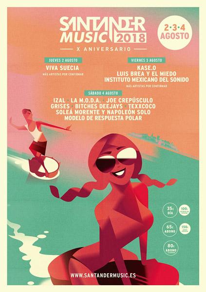 Santander Music 2018 anuncia cartel por días