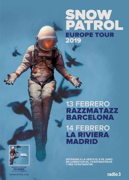 Snow Patrol anuncian conciertos en Barcelona y Madrid en febrero de 2019