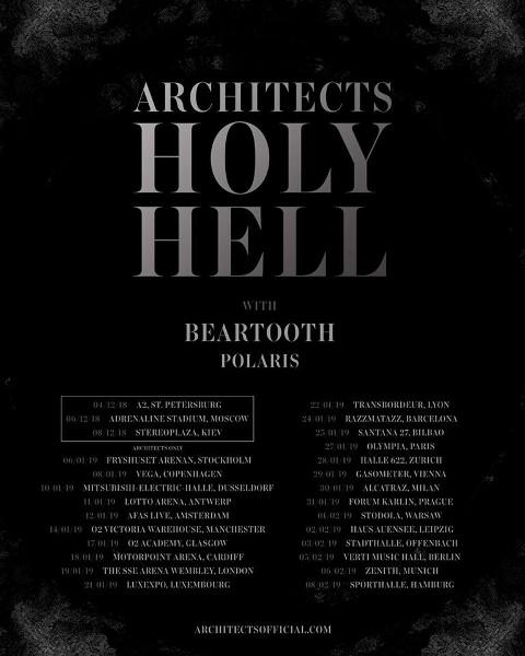 Architects announce European 2019 tour