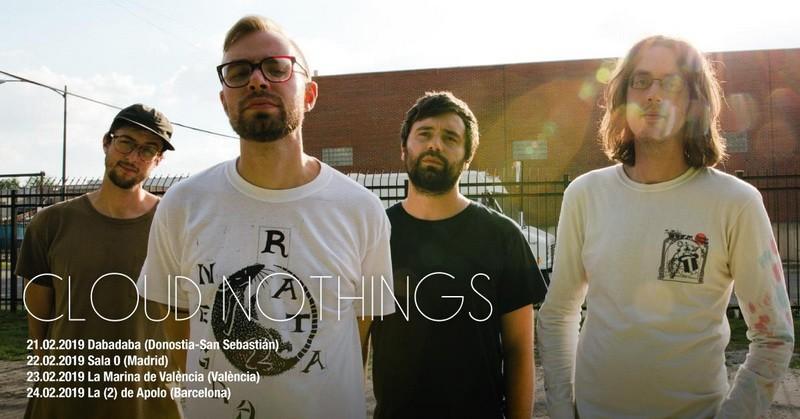 Cloud Nothings anuncian 4 conciertos en España en febrero de 2019