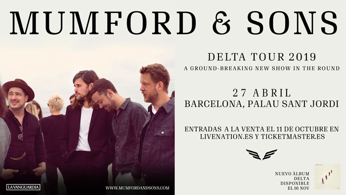 Mumford and Sons actuarán en Barcelona en abril de 2019