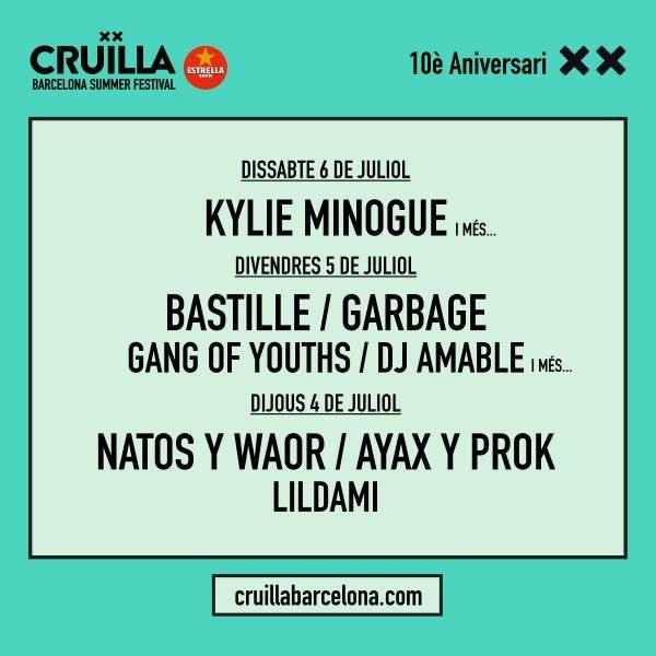 El Cruïlla 2019 anuncia sus primeros nombres