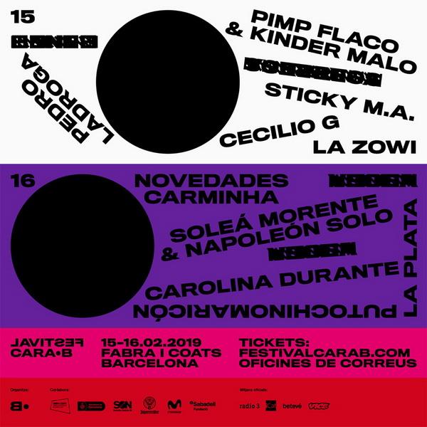 Carolina Durante y Cecilio G, confirmados para el Cara·B 2019