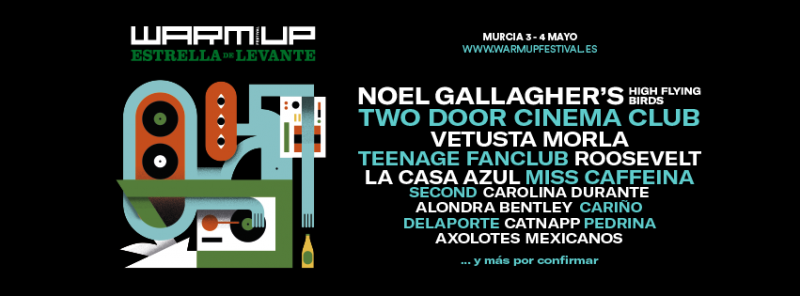 Noel Gallagher´s High Flying Birds, big headliner of the Warm UP Estrella de Levante 2019
