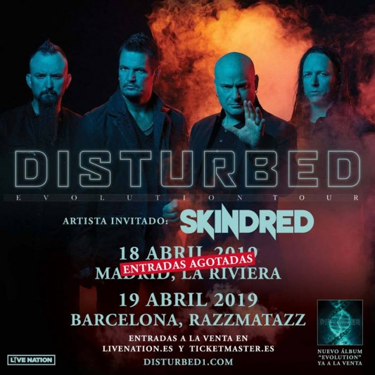 Disturbed confirman sold out en Madrid y anuncian teloneros para su gira española