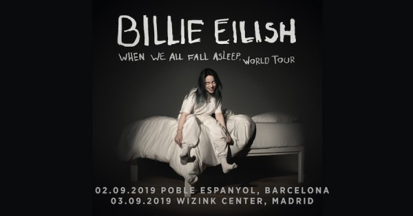 Billie Eilish anuncia conciertos en Barcelona y Madrid