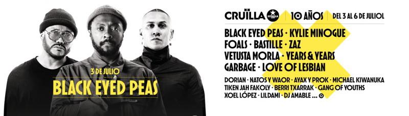 Black Eyed Peas son el gran nombre del Cruïlla 2019