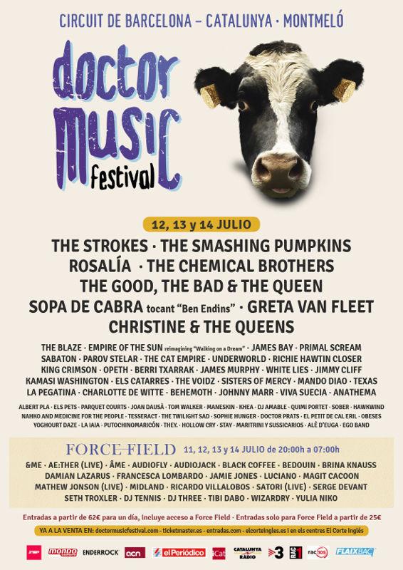 Cartel completo y horarios para el Doctor Music Festival 2019