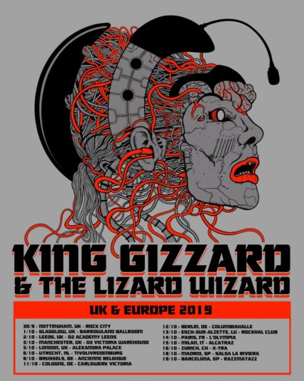 king gizzard and the lizard wizard european tour 2019