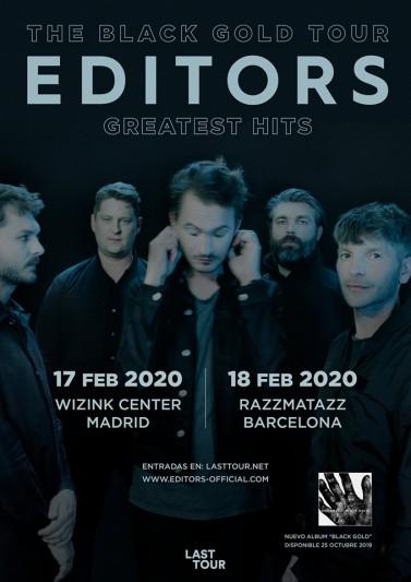 Editors volverán en concierto a España en 2020